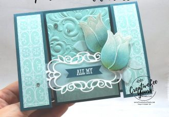 Spanner panel sympathy by wendy lee, stampin up, stamping, SU, #creativeleeyours, creatively yours, creative-lee yours, handmade card, friend, celebration, congratulations, thank you, hello, stamping, DIY, paper crafts, embossing, tutorial, FMN, forget me not, card club, class, timeless tulips stamp set, #makeacardsendacard ,#makeacardchangealife, well said stamp set,detailed bands dies, Parisian, fun fold, 3 layer