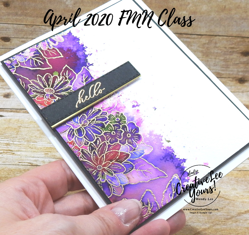 Sprinkled Emboss Resist by Wendy Lee, stampin Up, SU, #creativeleeyours, handmade card, friend, celebration, congratulations, thank you, hello, stamping, creatively yours, creative-lee yours, DIY, paper crafts, embossing, pigment sprinkles, tutorial, FMN, forget me not, card club, class, ornate style stamp set, #makeacardsendacard ,#makeacardchangealife, timeless tropical stamp set