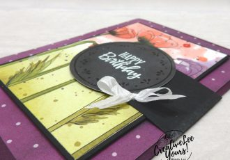 Birthday Flip Fold by wendy lee, Stampin Up, #creativeleeyours, creatively yours, stamping, paper crafting, handmade, , patternpaper, SU, SUO, creative-lee yours, DIY, fellowship, paper crafts, spring, flowers, video, friend, celebration, Peaceful Moments stamp set, FMN, Forget me Not, card club, live paper crafting, ,#onlinecardclasses,# ,#funfoldcards ,#funfoldcard, #makeacardsendacard ,#makeacardchangealife, #tutorial