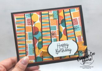 Scrappy Strip Birthday Bonanza by wendy lee, Stampin Up, #creativeleeyours, creatively yours, stamping, paper crafting, handmade, SU, SUO, creative-lee yours, DIY, fellowship, paper crafts, video, friend, birthday, tucan, koala, lion, animals, celebration, bonanza buddies stamp set, live paper crafting, ,#onlinecardclasses,#makeacardsendacard ,#makeacardchangealife, #tutorial, retiring stamps, masculine, facebook live, #scrappystriptechnique, #simplestamping