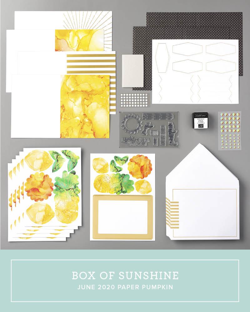 June 2020 A Box Of Sunshine Paper Pumpkin Kit Video - Creativelee ...