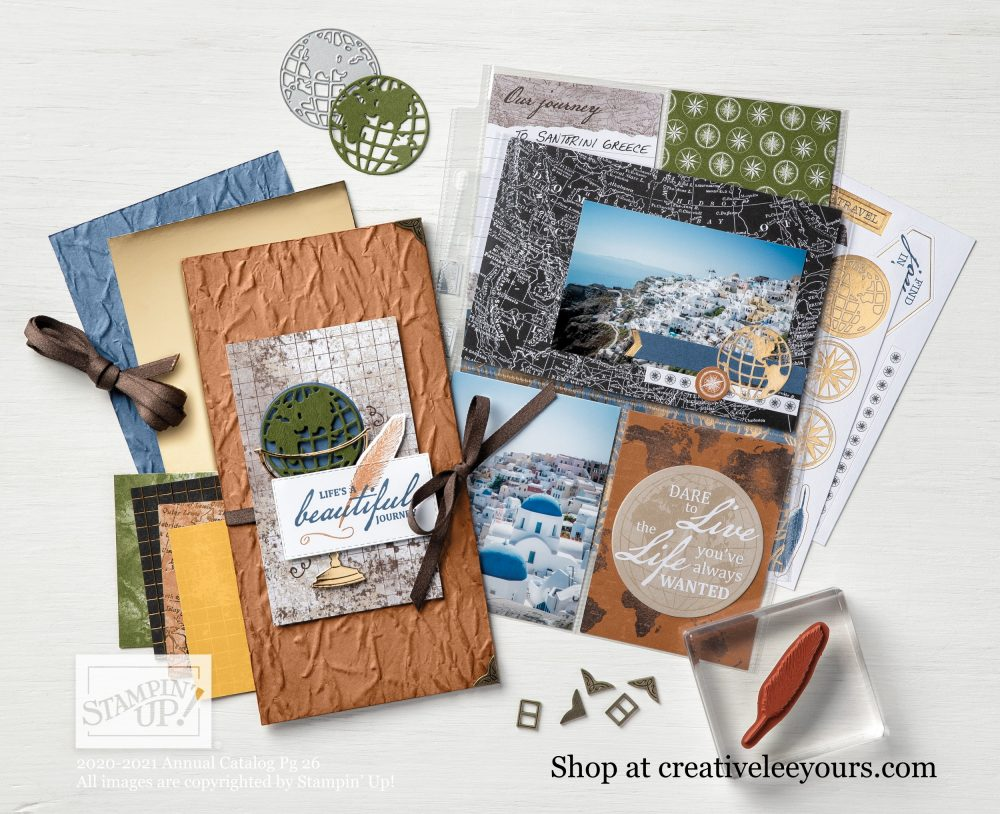World of good suite, Wendy Lee, stampin up, handmade cards, rubber stamps, stamping, #cardmaking #handmadecard #rubberstamps ,#creativeleeyours, creatively yours, creative-lee yours, friend, celebration, smile, thank you, travel, amazing, masculine, globe, old world,  video, DIY, #su , #stampinupdemonstrator, #papercrafts , #papercraft , #papercrafting , #makeacardsendacard ,#makeacardchangealife , beautiful world stamp set, world map dies, #blueridgestampinescape, class, retreat, tutorial