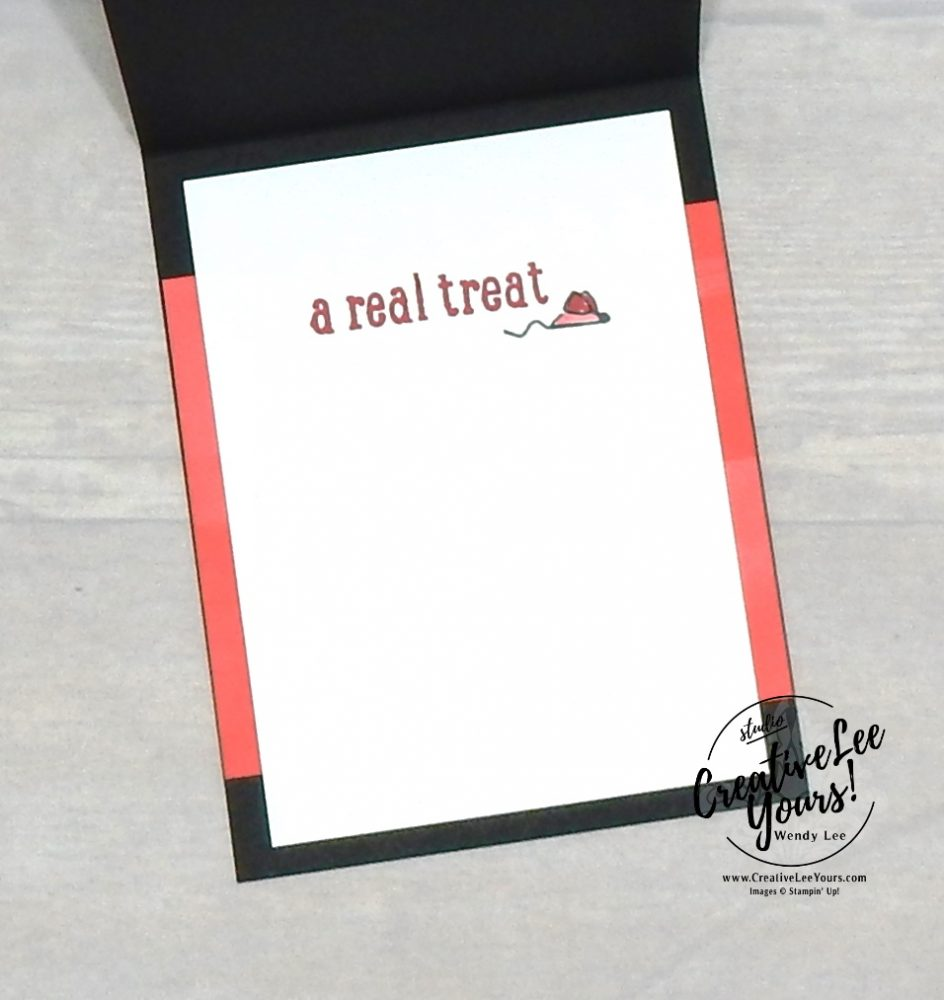 A Real Treat by wendy lee, stampin up, stamping, SU, #creativeleeyours, creatively yours, creative-lee yours, Tutorial, handmade card, friend, celebration, thank you, thinking of you, stamping, birthday, embossing, #makeacardsendacard ,#makeacardchangealife, pampered pets stamp set, pattern paper, #stampinupdemonstrator , #cardclass, ,#cardclasses ,#onlinecardclasses ,#funfoldcards ,#funfoldcard ,#tutorial ,#tutorials, #DIY, #papercrafts , #papercraft , #papercrafting, playful pets, dog card, cat card, pet card
