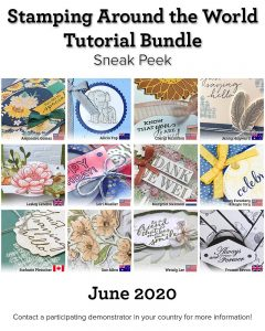 Stamping Around the World Tutorial Bundle, June 2020,blog hop, wendy lee, class, cards, exclusive, #creativeleeyours, creativelee-yours, creatively yours, pattern paper, rubber stamps, Stampin Up, hand made cards, technique, fun fold, DIY, paper crafts