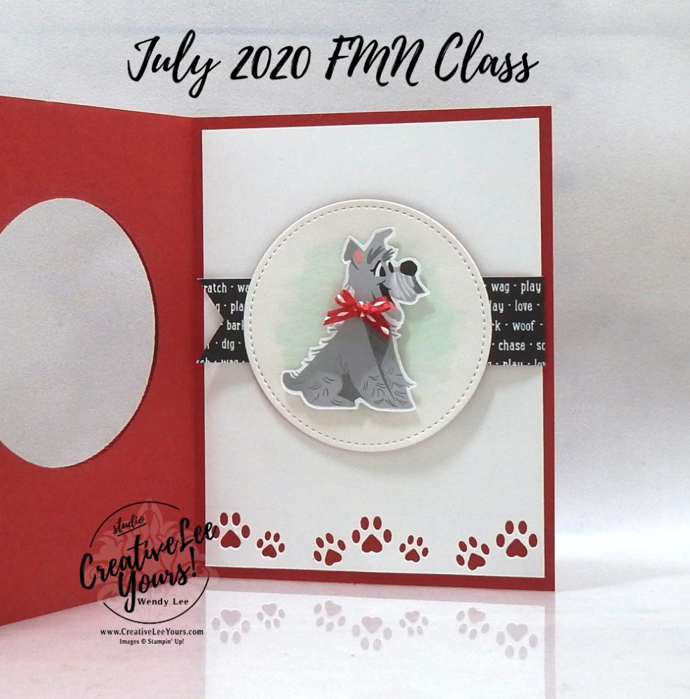 Pampered Pet Flip Flop by wendy lee, stampin up, stamping, SU, #creativeleeyours, creatively yours, creative-lee yours, #cardmaking #handmadecard #rubberstamps #stamping, friend, celebration, congratulations, thank you, hello, birthday, stamping, DIY, paper crafts, #papercrafting , #papercraftingsupplies, #papercraftingisfun , tutorial, FMN, forget me not, card club, class, pampered pets stamp set, #makeacardsendacard ,#makeacardchangealife, flip flop, fun fold ,#tutorial ,#tutorials ,playful pets, animal card, dog, cat