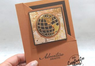Adventure Awaits Corner Fold by Sheila Tatum, Wendy Lee, stampin Up, SU, #creativeleeyours, handmade card, beautiful world stamp set, globe, friend, celebration, stamping, creatively yours, creative-lee yours, DIY, birthday, bookmark, fun fold, corner fold, papercrafts, business opportunity, #makeacardsendacard ,#makeacardchangealife , #diemondsteam ,#diemondsteamswap ,#businessopportunity, rubberstamps, #stampinupdemonstrator , #cardmaking, #papercrafts , #papercraft , #papercrafting , #papercraftingsupplies, #papercraftingisfun, masculine card