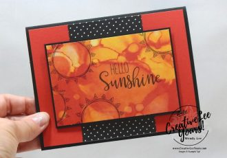 Hello Sunshine by Wendy Lee, June 2020 Paper Pumpkin Kit, Box of Sunshine, stampin up, handmade cards, rubber stamps, stamping, kit, subscription, #creativeleeyours, creatively yours, creative-lee yours, celebration, smile, thank you, birthday, love, congrats, sun, yellow, pineapple, watercolor, lemons, alternate, bonus tutorial, fast & easy, DIY, #simplestamping, card kit, subscription, craft kit, #papercrafts , #papercraft , #papercrafting , #papercraftingsupplies, #papercraftingisfun, #makeacardsendacard ,#makeacardchangealife , #paperpumpkin ,#paperpumpkinalternates , #paperpumpkinalternative ,#paperpumpkinalternatives, #papercraftingkit