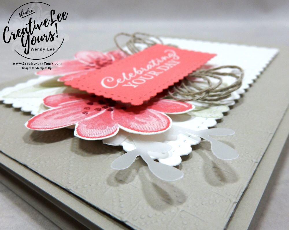 Simple Collage by wendy lee, stampin up, stamping, SU, #creativeleeyours, creatively yours, creative-lee yours, #cardmaking #handmadecard #rubberstamps #stamping, friend, celebration, congratulations, thank you, hello, birthday, stamping, DIY, paper crafts, #papercrafting , #papercraftingsupplies, #papercraftingisfun , Facebook live, gorgeous posies stamp set, #makeacardsendacard ,#makeacardchangealife, ,#tutorial ,#tutorials, collage card