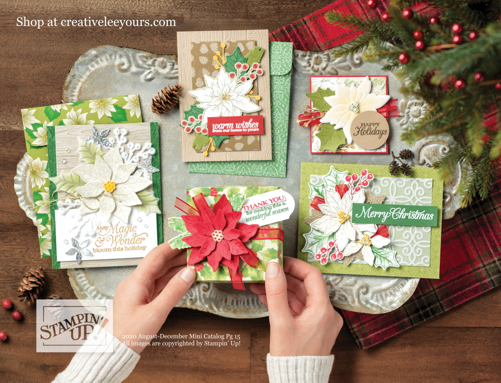Poinsettia Place suite, Stampin' Up! Video with wendy lee, Poinsettia Petals stamp set, Stampin Up, #creativeleeyours, creatively yours, #stampinupdemonstrator ,#cardmaking #handmadecard #rubberstamps #stamping, SU, SUO, creative-lee yours, #DIY, #papercrafts , #papercraft , #papercrafting , fellowship, video, friend, birthday, celebration, hello, thank you, sympathy, Christmas, holidays, #makeacardsendacard ,#makeacardchangealife, #papercraftingsupplies, #papercraftingisfun, #simplestamping