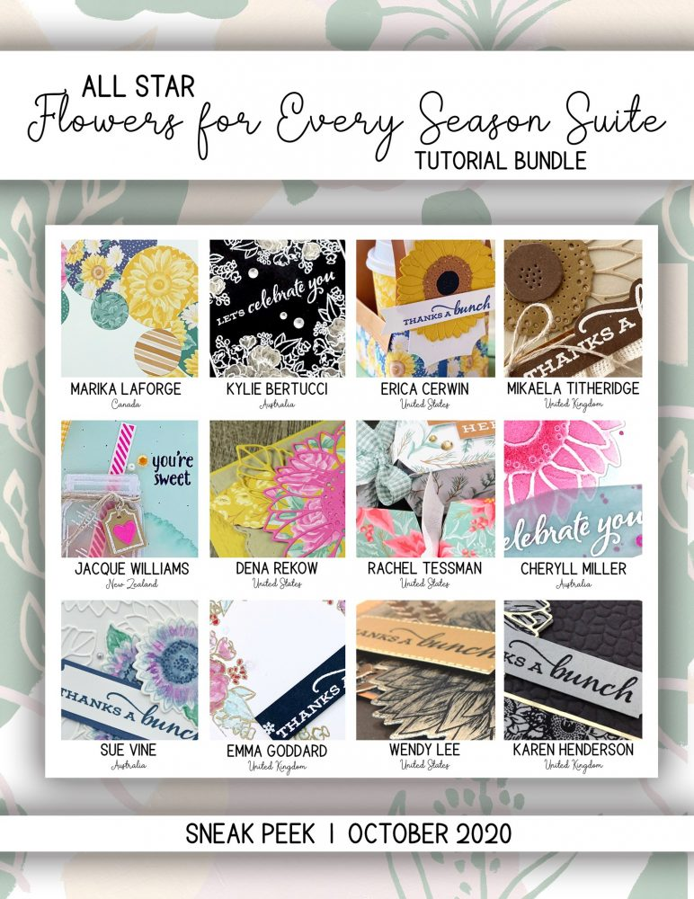 All star tutorial bundle, #wendylee , #creativeleeyours , #stampinup , #su , #stampinupdemonstrator , #cardmaking, #handmadecard, #rubberstamps, #stamping, #cardclass, # cardclasses ,#onlinecardclasse,#tutorial ,#tutorials #DIY, #papercrafts , #papercraft , #papercrafting , #papercraftingsupplies, #papercraftingisfun, #papercraftingideas, #makeacardsendacard ,#makeacardchangealife, #subscription, October 2020, Flowers for every season Suite