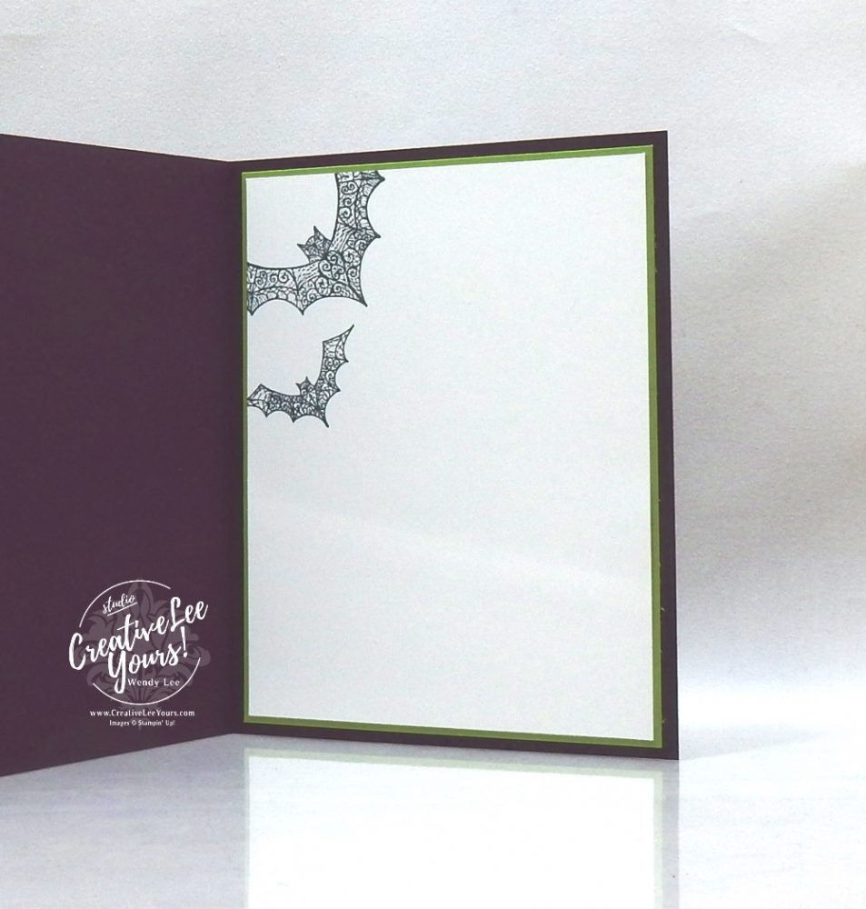 Partial Die-cut layer by wendy lee, stampin up, stamping, SU, #creativeleeyours, creatively yours, creative-lee yours, #cardmaking ,#handmadecard, #rubberstamps, #stamping, friend, celebration, Halloween, Bats, Spiders, spooky, stamping, DIY, paper crafts, #papercrafting , #papercraftingsupplies, #papercraftingisfun , Facebook live, hallows night magic stamp set, Halloween magic dies, #makeacardsendacard ,#makeacardchangealife, ,#tutorial ,#tutorials, masculine ,#tutorial ,#tutorials