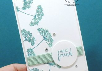 Hello Friend Note Card by Wendy Lee, queen annes lace stamp set, get and go, stampin Up, SU, #creativeleeyours, handmade card, friend, celebration, stamping, creatively yours, creative-lee yours, DIY, birthday, papercrafts, business opportunity, #makeacardsendacard ,#makeacardchangealife , #diemondsteam ,#businessopportunity, rubberstamps, #stampinupdemonstrator , #cardmaking, #papercrafts , #papercraft , #papercrafting , #papercraftingsupplies, #papercraftingisfun, flowers, tutorial bundle , 2 step stamping