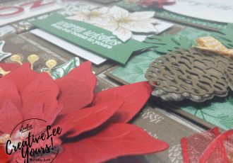 Poinsettia Christmas home decor by wendy lee, stampin up, stamping, SU, #creativeleeyours, creatively yours, creative-lee yours, ,#tutorial ,#tutorials ,#rubberstamps #stamping, friend, celebration, framed art, sampler, holiday, Christmas, winter, thank you, hello, birthday, noel, poinsettia, stamping, DIY, paper crafts, #papercrafting , #papercraftingsupplies, #papercraftingisfun , poinsettia petals stamp set, 3D, framed art