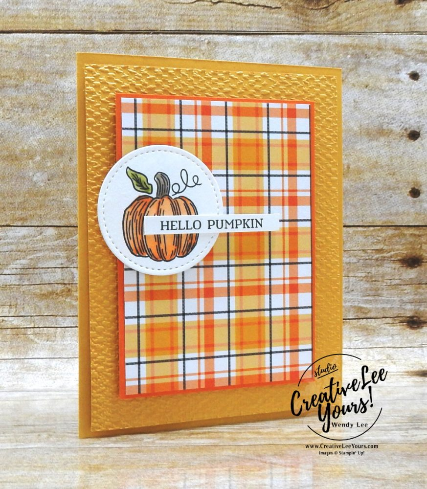 Hello Pumpkin by Wendy Lee, September 2020 Paper Pumpkin Kit, Hello Pumpkin, stampin up, handmade cards, rubber stamps, stamping, kit, subscription, #creativeleeyours, creatively yours, creative-lee yours, celebration, thank you, birthday, pumpkin, witch hat, cats, flowers, congrats, alternate, bonus tutorial, fast & easy, DIY, card kit, subscription, craft kit, #papercrafts , #papercraft , #papercrafting , #papercraftingsupplies, #papercraftingisfun, #makeacardsendacard ,#makeacardchangealife , #paperpumpkin ,#paperpumpkinalternates , #paperpumpkinalternative ,#paperpumpkinalternatives, #papercraftingkit, ,#fmn ,#forgetmenot, plaid tidings
