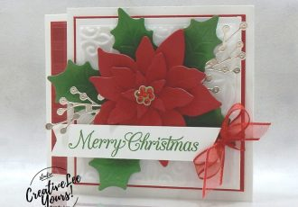 Christmas Poinsettia by wendy lee, stampin up, stamping, SU, #creativeleeyours, creatively yours, creative-lee yours, #cardmaking, #handmadecard, #rubberstamps #stamping, friend, celebration, congratulations, thank you, hello, grateful, thinking of you, birthday, Christmas, poinsettia, holiday, fun fold, stamping, DIY, paper crafts, #papercrafting , #papercraftingsupplies, #papercraftingisfun , FMN, forget me not, card club, class, Poinsettia Petals stamp set, #makeacardsendacard ,#makeacardchangealife, ,#tutorial ,#tutorials, ornamental envelopes stamp set, envelope dies , plush poinsettia, tis the season