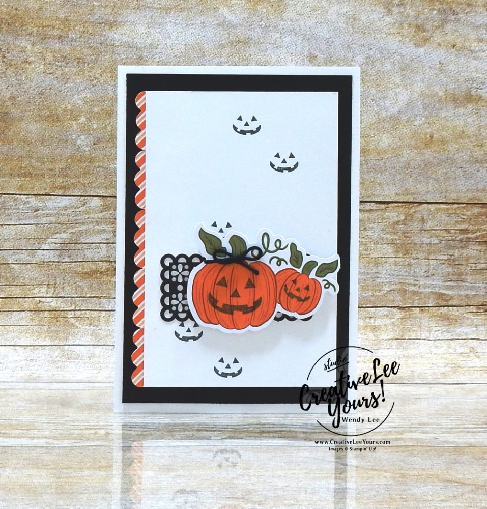 Halloween Pumpkin by Wendy Lee, September 2020 Paper Pumpkin Kit, Hello Pumpkin, stampin up, handmade cards, rubber stamps, stamping, kit, subscription, #creativeleeyours, creatively yours, creative-lee yours, celebration, thank you, birthday, pumpkin, witch hat, cats, flowers, congrats, alternate, bonus tutorial, fast & easy, DIY, card kit, subscription, craft kit, #papercrafts , #papercraft , #papercrafting , #papercraftingsupplies, #papercraftingisfun, #makeacardsendacard ,#makeacardchangealife , #paperpumpkin ,#paperpumpkinalternates , #paperpumpkinalternative ,#paperpumpkinalternatives, #papercraftingkit,