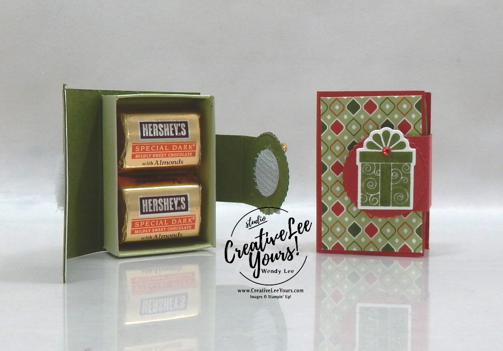 Little Treat Holder by Wendy Lee, stampin Up, SU, #creativeleeyours, handmade card, Little Treats stamp set, Christmas, santa, present, friend, celebration, stamping, creatively yours, creative-lee yours, DIY, birthday, 3D, candy treat holder, papercrafts, rubberstamps, #stampinupdemonstrator , #papercrafts , #papercraft , #papercrafting , #papercraftingsupplies, #papercraftingisfun, facebook live, video , little treats box dies