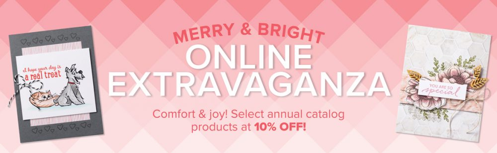 online extravaganza with Wendy Lee, Stampin Up sale, discount stamps, paper crafting, holiday sale, black friday, small business saturday, cyber monday, #creativeleeyours, creatively yours, creative-lee yours, cardstock, ink, bundles