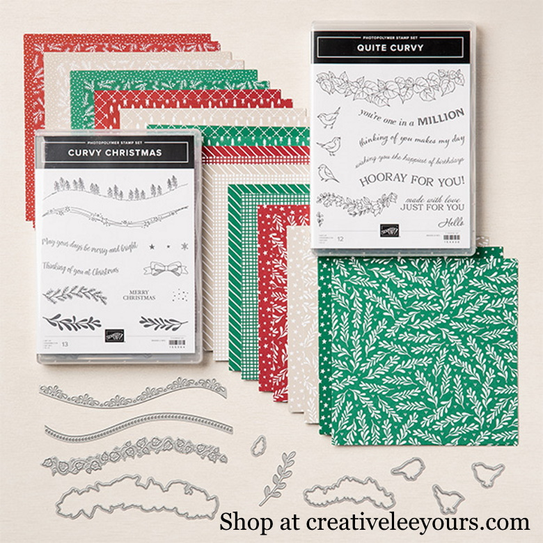 Curvy Celebrations Early Release, quite curvy stamp set, curvy dies, curvy Christmas stamp set, classic Christmas, limited release, early release, wendy lee, stampin up, stamping, SU, #creativeleeyours, creatively yours, creative-lee yours, sneak peek, new catalog, new stamping products, promotion, handmade card, friend, celebration, thank you, thinking of you, stamping, DIY, birthday, papercrafts, #makeacardsendacard ,#makeacardchangealife, pattern paper