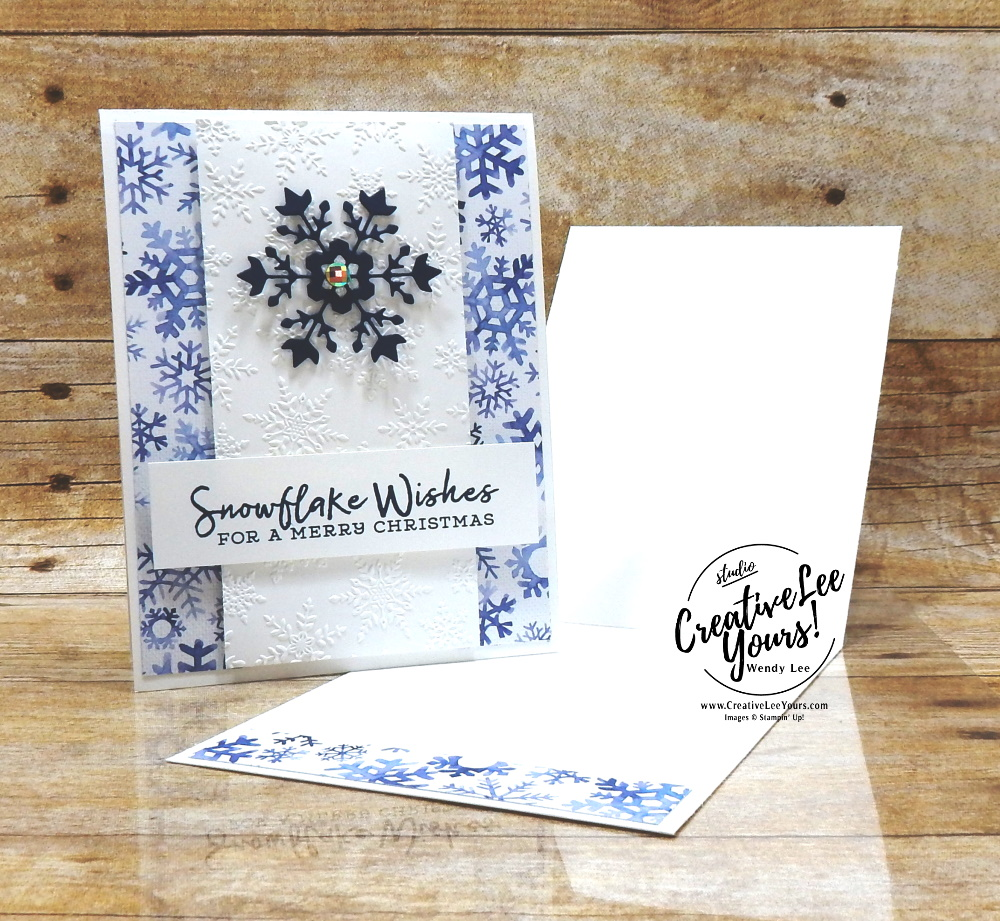 Simple Snowflake by Wendy Lee, stampin Up, SU, #creativeleeyours, handmade card, Snowflake Wishes stamp set, Christmas, friend, celebration, thank you, stamping, creatively yours, creative-lee yours, DIY, birthday, papercrafts, rubberstamps, #stampinupdemonstrator , #papercrafts , #papercraft , #papercrafting , #papercraftingsupplies, #papercraftingisfun, so many snowflakes , winter snow, fast and easy, winter, holiday card