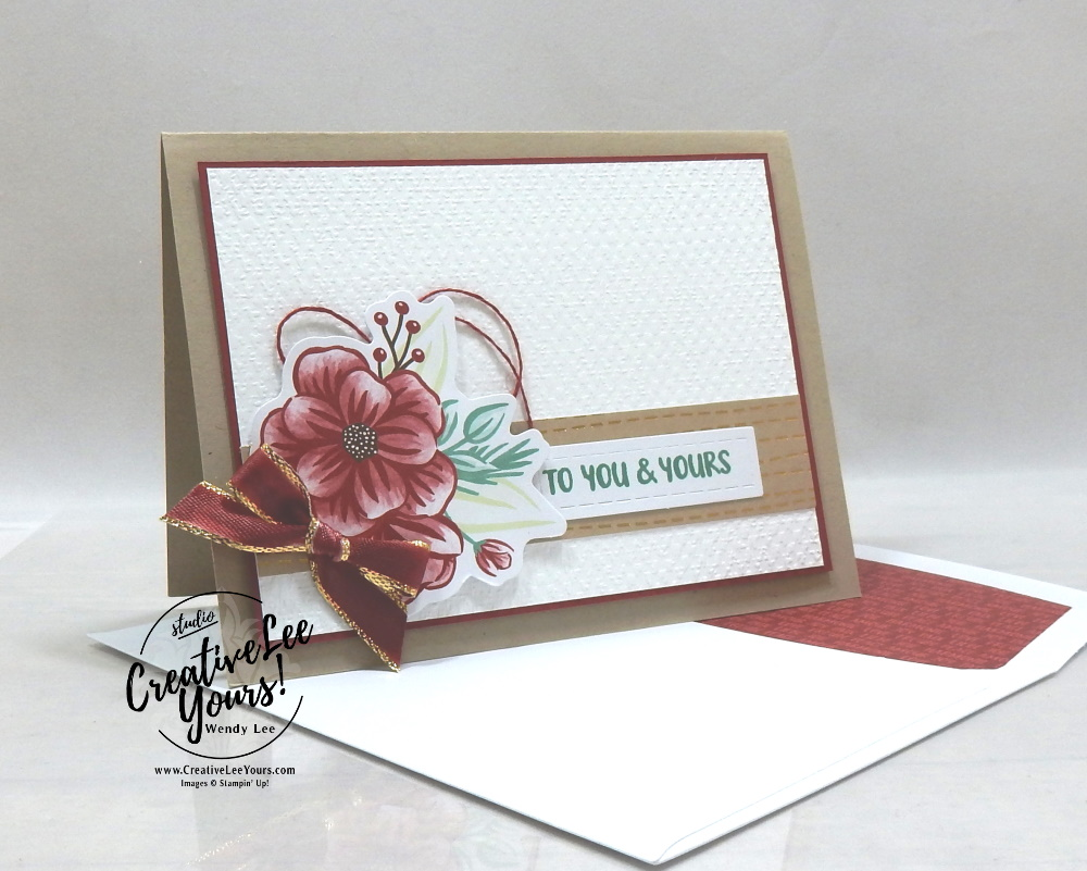 To You & Yours by Wendy Lee, October 2020 Paper Pumpkin Kit, Joy to the world, stampin up, handmade cards, rubber stamps, stamping, kit, subscription, #creativeleeyours, creatively yours, creative-lee yours, celebration, smile, thank you, birthday, Christmas, flowers, congrats, wreath, joy, peace, love, bonus tutorial, fast & easy, DIY, #simplestamping, card kit, subscription, craft kit, #paperpumpkinalternates , #paperpumpkinalternative ,#paperpumpkinalternatives, #papercraftingkit