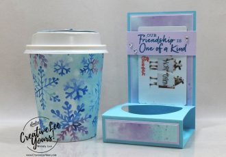Mini Coffee Cup & Gift Card Holder by Wendy Lee, stampin Up, SU, #creativeleeyours, handmade card, Christmas, friend, celebration, thank you, stamping, creatively yours, creative-lee yours, DIY, birthday, gift card holder, papercrafts, rubberstamps, #stampinupdemonstrator , #papercrafts , #papercraft , #papercrafting , #papercraftingsupplies, #papercraftingisfun, facebook live, video , snowflake splendor, mini coffee cup, how to, snowflakes
