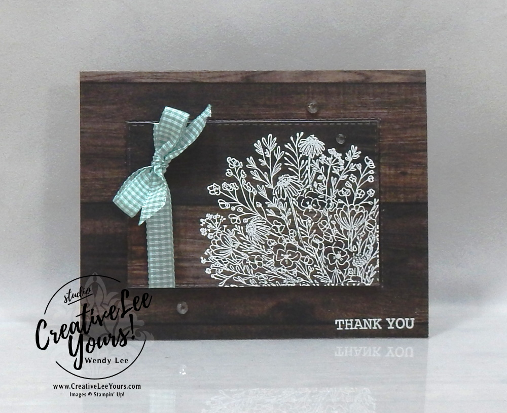 Thank You Blooms by Wendy Lee, Hand-drawn Blooms Stamp Set, stampin Up, SU, #creativeleeyours, handmade card, friend, celebration, thank you, stamping, creatively yours, creative-lee yours, DIY, birthday, papercrafts, #makeacardsendacard ,#makeacardchangealife , rubberstamps, #stampinupdemonstrator , #cardmaking, #papercrafts , #papercraft , #papercrafting , #papercraftingsupplies, #papercraftingisfun, in good taste, embossing, die cut layer, kylie bertucci, international highlights, blog hop, woodgrain, gingham