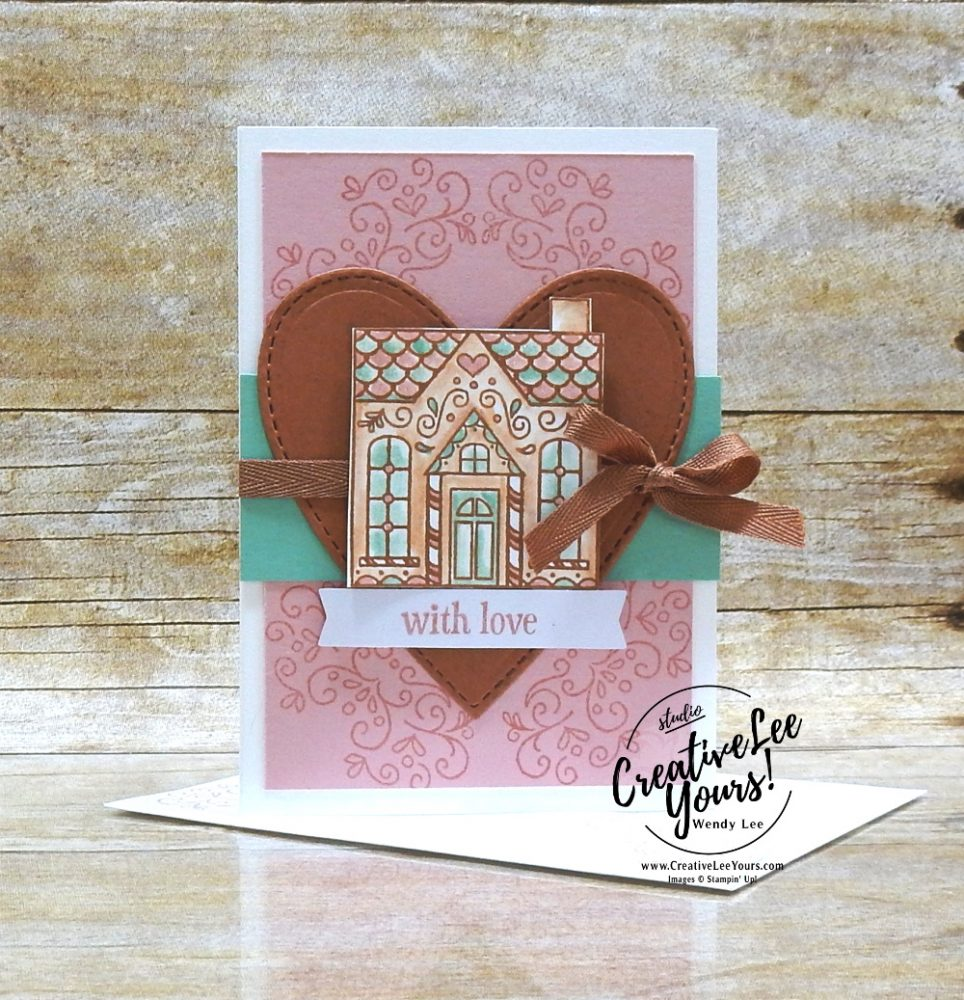 With Love by Wendy Lee, November 2020 Paper Pumpkin Kit, Jolly Gingerbread, stampin up, handmade cards, gift card holder, candy embellishments, peppermint, rubber stamps, stamping, kit, subscription, Valentine, #creativeleeyours, creatively yours, creative-lee yours, celebration, smile, thank you, birthday, congrats, gingerbread, house, love, bonus tutorial, fast & easy, DIY, #simplestamping, card kit, subscription, craft kit, #paperpumpkinalternates , #paperpumpkinalternative ,#paperpumpkinalternatives, #papercraftingkit
