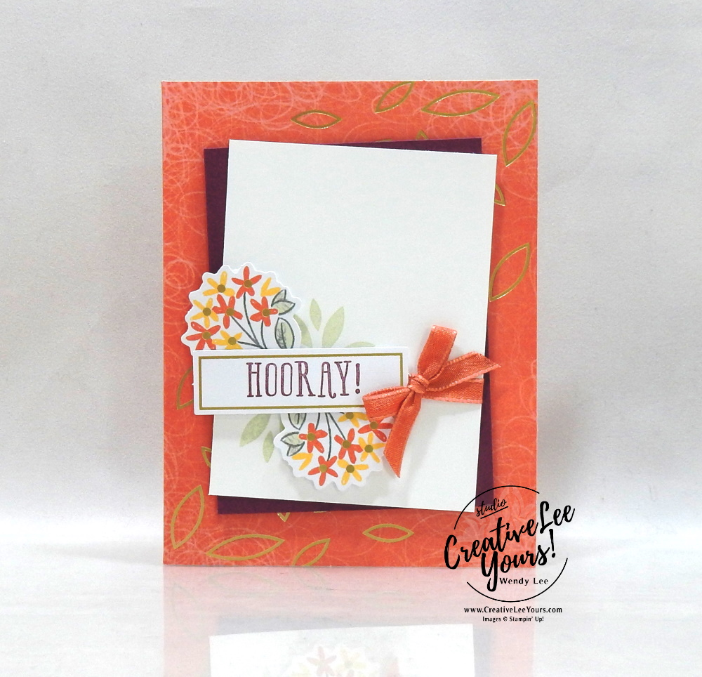 Hooray Bouquet by Wendy Lee, December 2020 Paper Pumpkin Kit, Beary Comforting, stampin up, handmade cards, rubber stamps, stamping, kit, subscription, #creativeleeyours, creatively yours, creative-lee yours, celebration, smile, thank you, birthday, get well, thinking of you,, congrats, koala, bear, racoon, bonus tutorial, fast & easy, DIY, #simplestamping, card kit, subscription, craft kit, #paperpumpkinalternates , #paperpumpkinalternative ,#paperpumpkinalternatives, #papercraftingkit