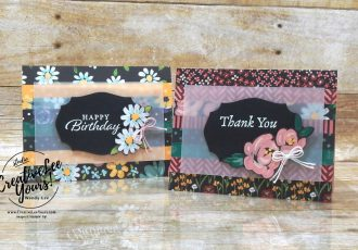 Happy Thoughts by Wendy Lee, stampin Up, SU, #creativeleeyours, handmade card, friend, celebration , birthday, stamping, creatively yours, creative-lee yours, DIY, papercrafts, rubberstamps, #stampinupdemonstrator , #papercrafts , #papercraft , #papercrafting , #papercraftingsupplies, #papercraftingisfun, video , Happy Thoughts stamp set, #tutorial ,#tutorials, thank you, #SAB, #saleabration, paper strips, pattern paper, flower & field, paper scraps