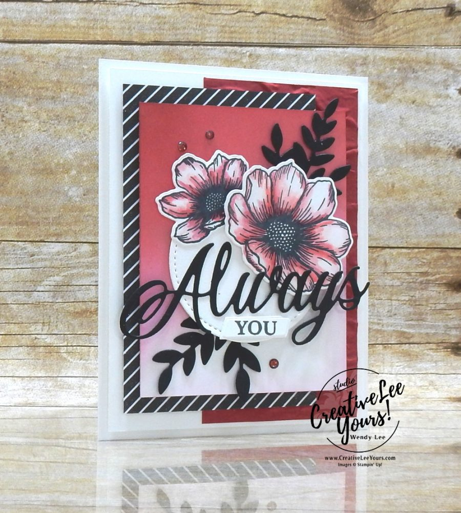 Coloring-Blender Pen & Ink by Wendy Lee, stampin Up, SU, #creativeleeyours, handmade card, friend, celebration , sympathy, thinking of you, thank you, birthday, anniversary, love, stamping, creatively yours, creative-lee yours, DIY, papercrafts, rubberstamps, #stampinupdemonstrator , #papercrafts , #papercraft , #papercrafting , #papercraftingsupplies, #papercraftingisfun, Facebook live, video , forever and always stamp set, ,#tutorial ,#tutorials, ,#technique ,#techniques, #blendingbrushes, #blenderpenandink, #coloring, old world paper, forever flourish, stitched shapes