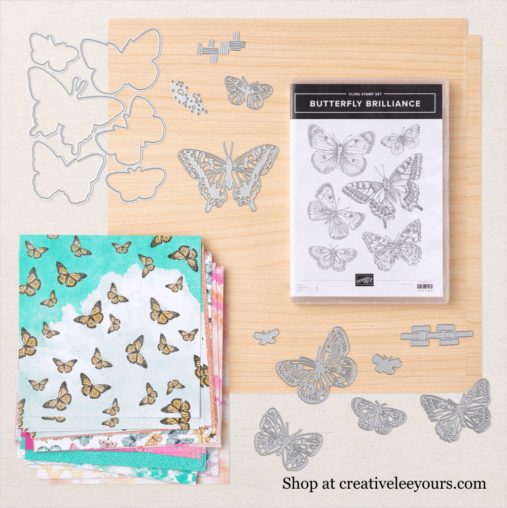 Butterfly bouquet Early Release, wendy lee, stampin up, stamping, SU, #creativeleeyours, creatively yours, creative-lee yours, sneak peek, new catalog, new stamping products, promotion, Tutorial, handmade card, friend, celebration, thank you, thinking of you, stamping, DIY, birthday, embossing, papercrafts, fun fold, #makeacardsendacard ,#makeacardchangealife, butterfly brilliance stamp set, pattern paper, Brilliant Wings dies, Butterfly Bijou, Natural touch