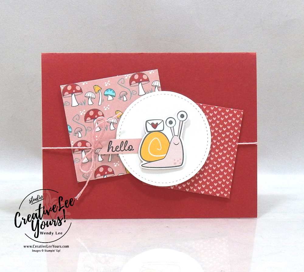 Simple Hello by Wendy Lee, #creativeleeyours , #stampinup , #su , #stampinupdemonstrator , #cardmaking, #handmadecard, #rubberstamps, #stamping, #DIY, #papercrafts , #papercraft , #papercrafting , #papercraftingsupplies, #papercraftingisfun, #papercraftingideas, #makeacardsendacard ,#makeacardchangealife , #happymailstampcamp, #snailedit, #snailmail, hello, friend, birthday
