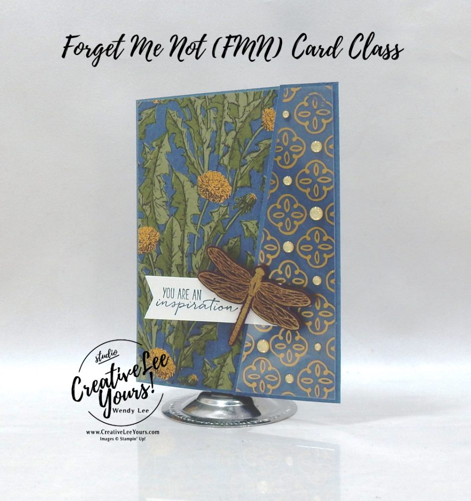 Sliding Lock Fun Fold by wendy lee, Dragonfly Garden stamp set, Dandy Garden, stampin up, stamping, SU, #creativeleeyours, creatively yours, creative-lee yours, #cardmaking, #handmadecard, #rubberstamps #stamping, friend, thinking of you, sympathy, thank you, birthday, love, anniversary, stamping, DIY, paper crafts, #papercrafting , #papercraftingsupplies, #papercraftingisfun , FMN, forget me not, ,#cardclub ,#cardclasses ,#onlinecardclasses , tutorial ,#tutorials , ,#funfoldcards ,#funfoldcard ,#makeacardsendacard ,#makeacardchangealife, #technique ,#techniques, dragonfly, sliding lock, Golden garden, acetate