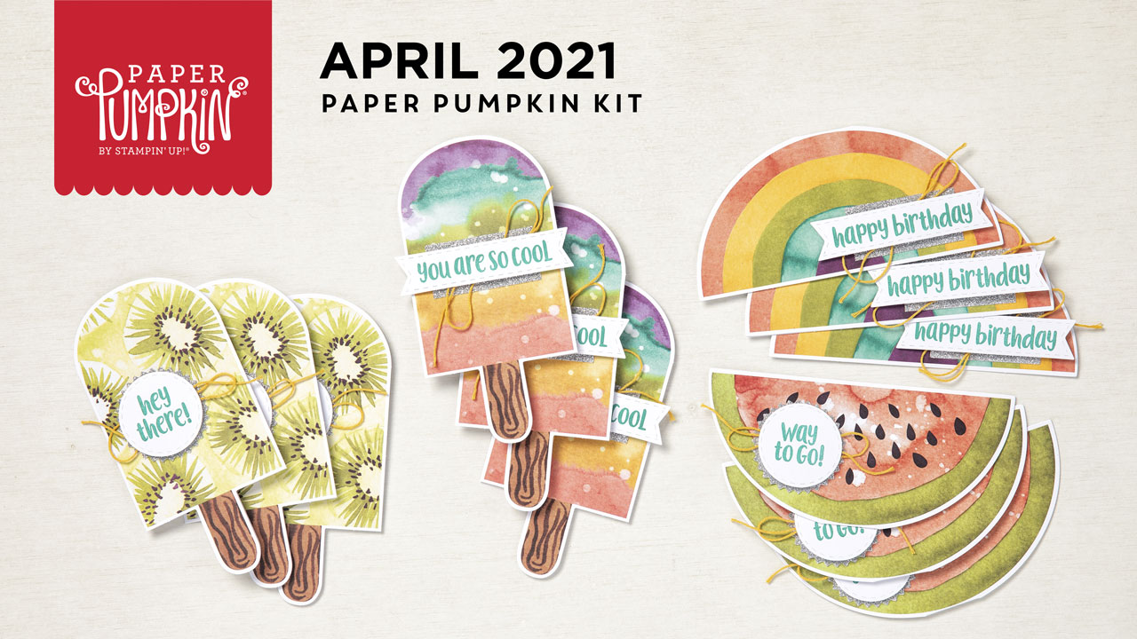 Wendy Lee, April 2021 Paper Pumpkin Kit, stampin up, handmade cards, rubber stamps, stamping, kit, subscription, #creativeleeyours, creatively yours, creative-lee yours, celebration, smile, thank you, birthday, sorry, thinking of you, love, congrats, lucky, feel better, sympathy, get well, grateful, comfort, encouragement, hearts, valentine, anniversary, wedding, bonus tutorial, fast & easy, DIY, #simplestamping, card kit, subscription, craft kit, ice cream, #paperpumpkinalternates , #paperpumpkinalternative ,#paperpumpkinalternatives, #papercraftingkit,#socool, video
