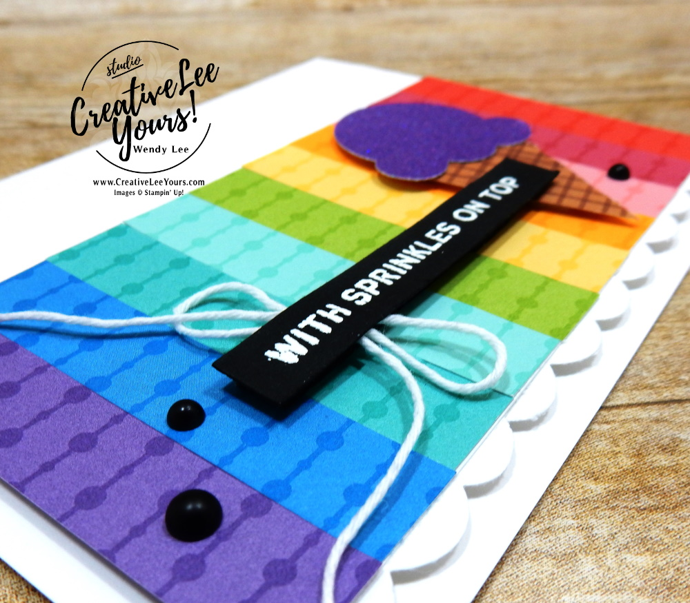 Sprinkles on top by wendy lee, All star tutorial bundle, #wendylee , #creativeleeyours , #stampinup , #su , #stampinupdemonstrator , #cardmaking, #handmadecard, #rubberstamps, #stamping, #cardclass, # cardclasses ,#onlinecardclasse,#tutorial ,#tutorials #DIY, #papercrafts , #papercraft , #papercrafting , #papercraftingsupplies, #papercraftingisfun, #papercraftingideas, #makeacardsendacard ,#makeacardchangealife, #subscription, #product suites, Fine Art Floral Suite, Love You Always Suite, Hydrangea Hill Suite, Flowering Cactus Product Medley, Ice-Cream Corner Suite, Sand & Sea Suite, paper strips, all star blog hop, #simplestamping, ombre paper, sweet ice cream