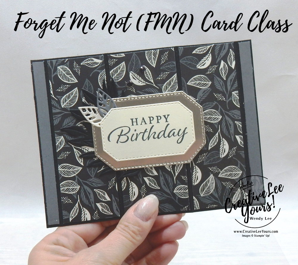 Bay Window Fun Fold by wendy lee, Happy Thoughts stamp set, stampin up, stamping, SU, #creativeleeyours, creatively yours, creative-lee yours, #cardmaking, #handmadecard, #rubberstamps #stamping, friend, thinking of you, sympathy, thank you, birthday, love, anniversary, stamping, DIY, paper crafts, #papercrafting , #papercraftingsupplies, #papercraftingisfun , FMN, forget me not, ,#cardclub ,#cardclasses ,#onlinecardclasses , tutorial ,#tutorials , ,#funfoldcards ,#funfoldcard ,#makeacardsendacard ,#makeacardchangealife, #technique ,#techniques, in the tropics, hippo and friends, love you always foil, simply elegant, masculine