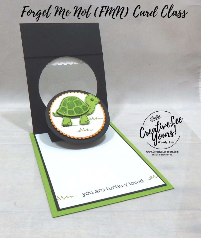 Turtle-y Loved Pop & Flip by wendy lee, Turtle Friends stamp set, Turtle Punch, stampin up, stamping, SU, #creativeleeyours, creatively yours, creative-lee yours, #cardmaking, #handmadecard, #rubberstamps #stamping, friend, thinking of you, sympathy, thank you, birthday, love, anniversary, stamping, DIY, paper crafts, #papercrafting , #papercraftingsupplies, #papercraftingisfun , FMN, forget me not, ,#cardclub ,#cardclasses ,#onlinecardclasses , tutorial ,#tutorials ,#funfoldcards ,#funfoldcard ,#makeacardsendacard ,#makeacardchangealife, #technique ,#techniques, pop up, true love