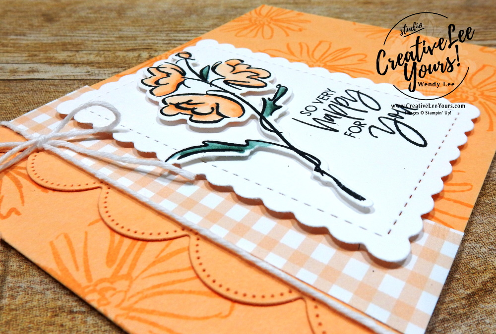 Happy For You by Wendy Lee, #creativeleeyours , #stampinup , #su , #stampinupdemonstrator , #cardmaking, #handmadecard, #rubberstamps, #stamping, #DIY, #papercrafts , #papercraft , #papercrafting , #papercraftingsupplies, #papercraftingisfun, #papercraftingideas, #makeacardsendacard ,#makeacardchangealife , Stampers Showcase Blog Hop, color and contour stamp set, scallop contour, flowers, pansy petals, friend, thinking of you, support, sympathy, coloring with blends, ,#tutorial ,#tutorials ,#technique ,#techniques