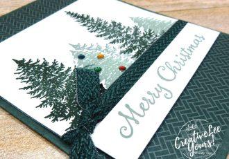 Evergreen Christmas by Wendy Lee, Evergreen Elegance stamp set, stampin up, stamping, SU, #creativeleeyours, creatively yours, creative-lee yours, #cardmaking #handmadecard #rubberstamps #stamping, friend, celebration, congratulations, thank you, Christmas, hello, birthday, warm wishes, stamping, DIY, paper crafts, #papercrafting , #papercraftingsupplies, #papercraftingisfun , #makeacardsendacard ,#makeacardchangealife, #diemondsteam, #businessopportunity, #diemondsteammeeting,
